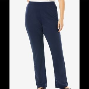 Woman Within NWOT Bootcut Stretch Pant, 18W Petite